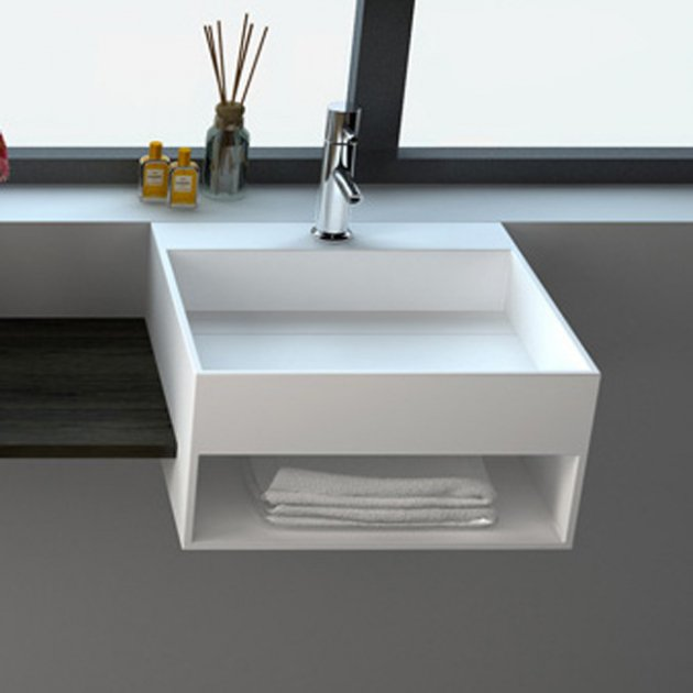 Nigella - Lavabo sospeso in Solid Surface