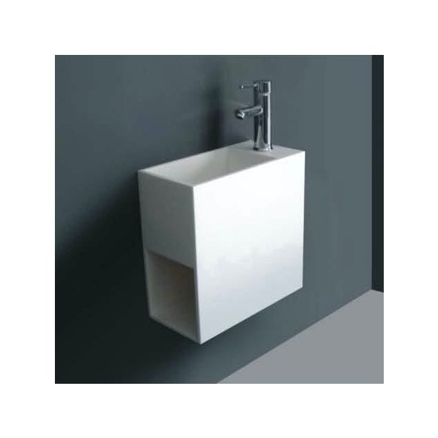 Orchid - Lavabo sospeso in Solid Surface