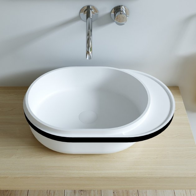 Oslo - Solid Surface Countertop Washbasin