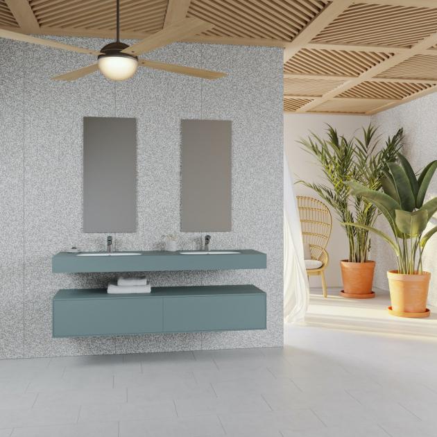 Peace - Corian® Colour Wall Mounted Double Washbasin