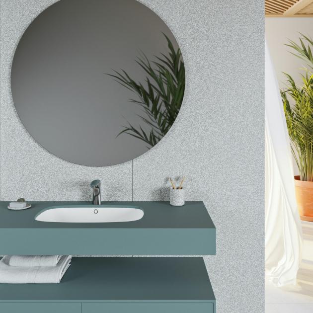 Peace - Corian® Colour Wall Mounted Washbasin