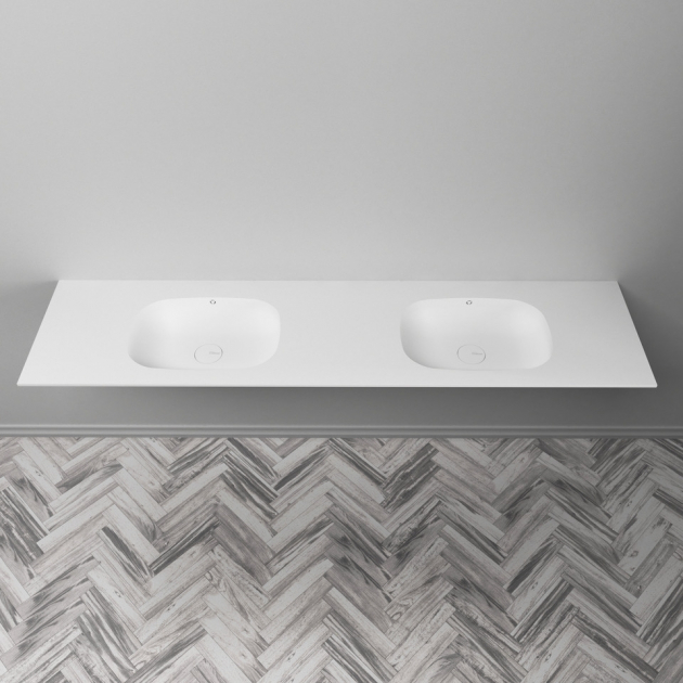 Peace - DuPont™ Corian® Double Vanity Top