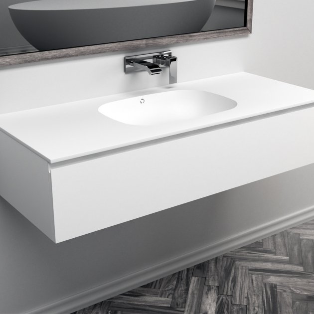 Peace - Wall Mounted DuPont™ Corian® Vanity Unit