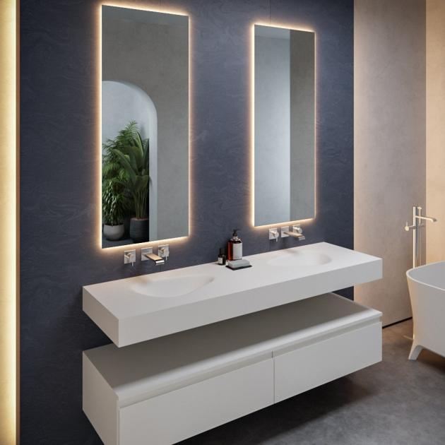 Phoenix - DuPont™ Corian® Wall Mounted Double Washbasin