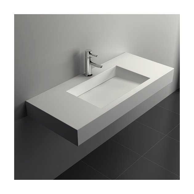 Poppy - Lavabo sospeso in Solid Surface