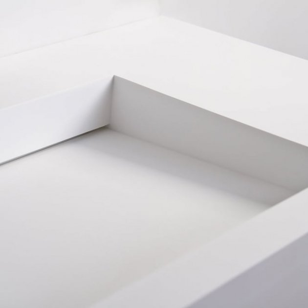 Poppy - Solid Surface Wall Mounted Washbasin