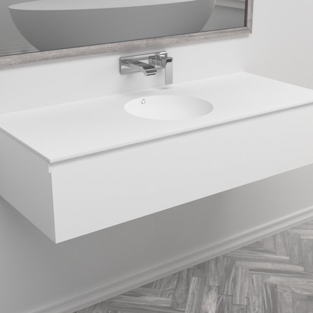 Purity - Wall Mounted DuPont™ Corian® Vanity Unit