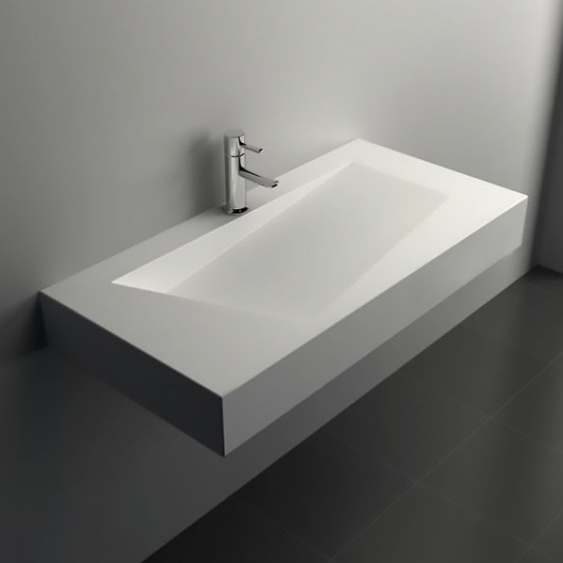 Quince - Lavabo sospeso in Solid Surface