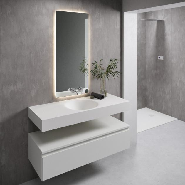 Red - Corian® Wall Mounted Washbasin