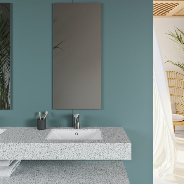 Refresh - Corian® Colour Wall Mounted Washbasin