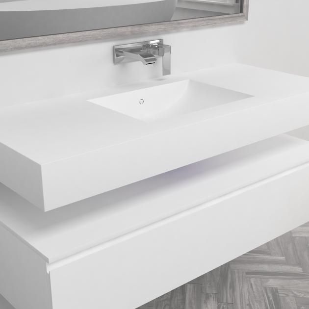 Refresh 7410 - DuPont™ Corian® Wall Mounted Washbasin