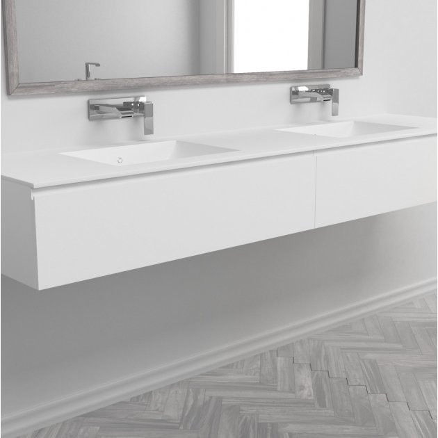 Refresh - Wall Mounted DuPont™ Corian® Vanity Unit