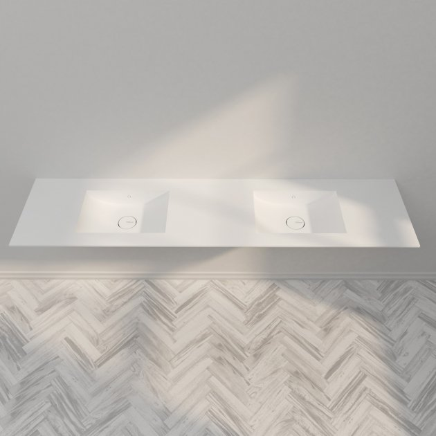 Refresh 7420 - DuPont™ Corian® Double Vanity Top - All Sizes