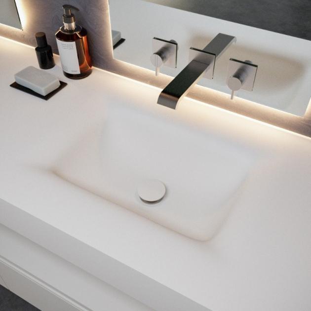 Nevada - DuPont™ Corian® Wall Mounted Double Washbasin