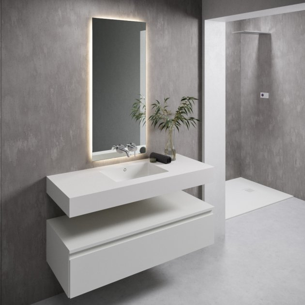 Quiet - DuPont™ Corian® Wall Mounted Washbasin - All Sizes
