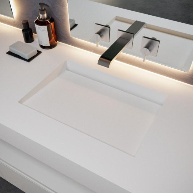 Tennessee - DuPont™ Corian® Wall Mounted Washbasin