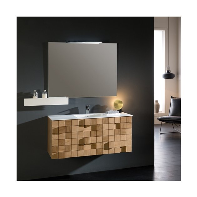 Rubik - Wall Mounted Solid Surface Vanity Unit