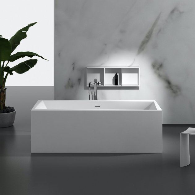 Soria 176cm - Freestanding Solid Surface Bathtub