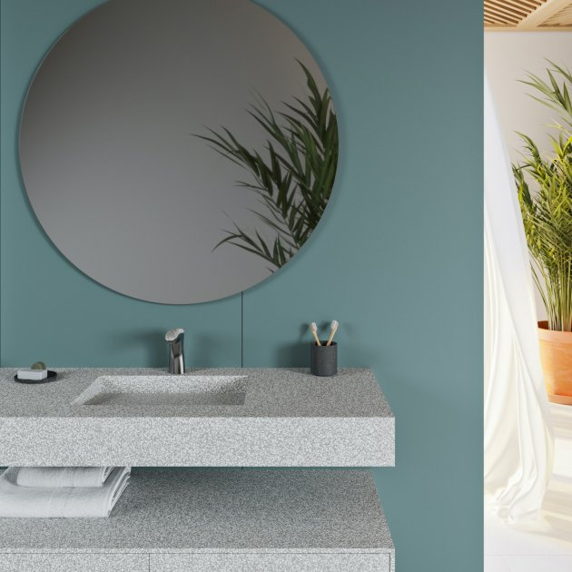 Tennessee - Corian® Colour Wall Mounted Washbasin
