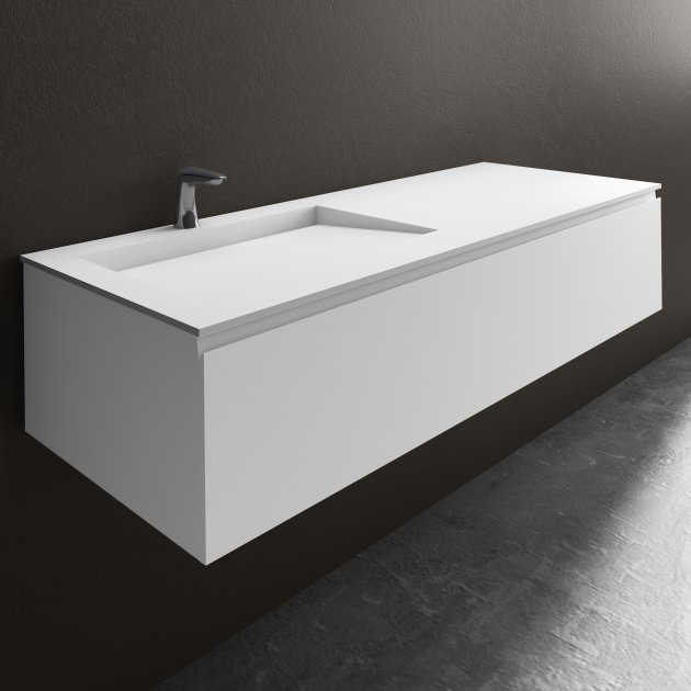 Tennessee - Wall Mounted DuPont™ Corian® Vanity Unit 1 Drawer