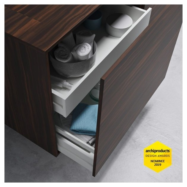Corian® Colour Key Island / Tennessee - Wall Mounted DuPont™ Vanity Unit - 2 drawers