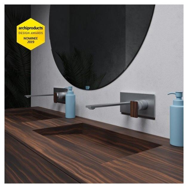 Key Island - Mobile Sospeso con Lavabo Tennessee in Corian® Colour - 2 cassetti