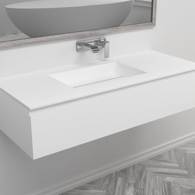 Texas - Wall Mounted DuPont™ Corian® Vanity Unit