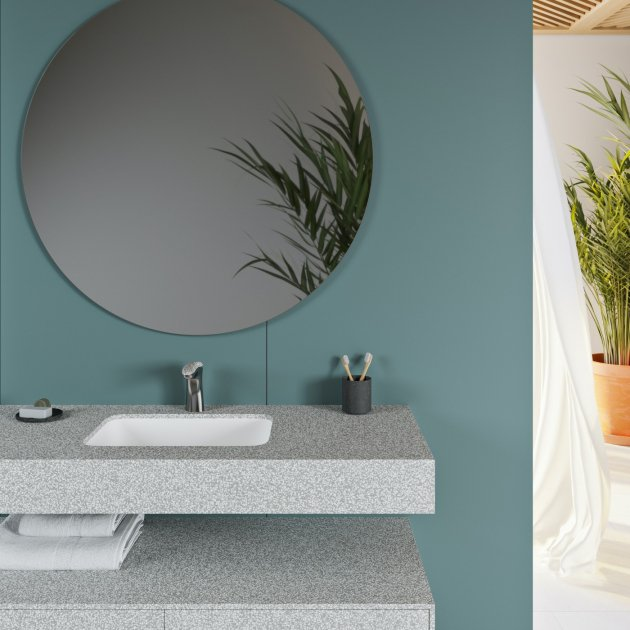 Toronto - Corian® Colour Wall Mounted Double Washbasin