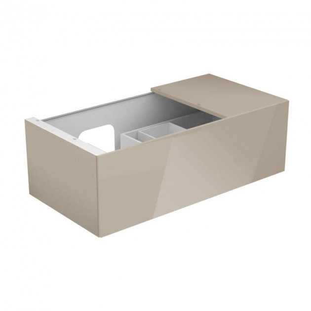 Vanity Base with 1 pull-out compartment and right side shelf Keuco Edition 11 - 31153