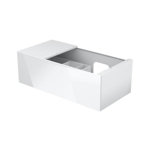 Vanity Base with 1 pull-out compartment and left side shelf Keuco Edition 11 - 31154