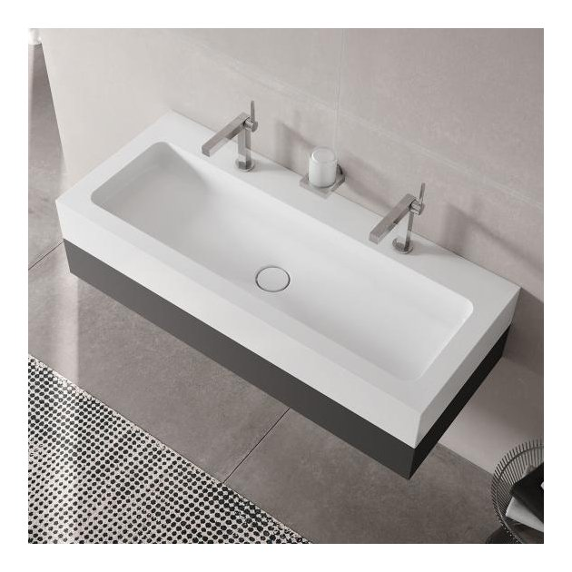 Double Sink Vanity Unit with 1 pull-out compartment Keuco Edition 300 - 39613