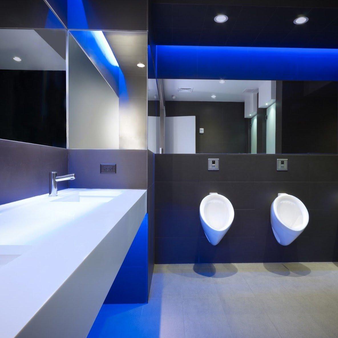 How do you make a corporate washroom inviting?