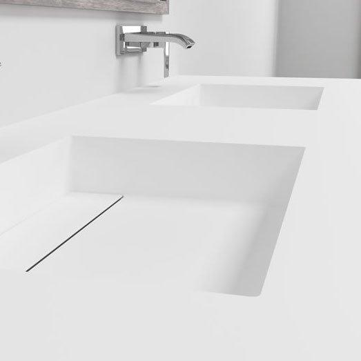 corian double washbasin