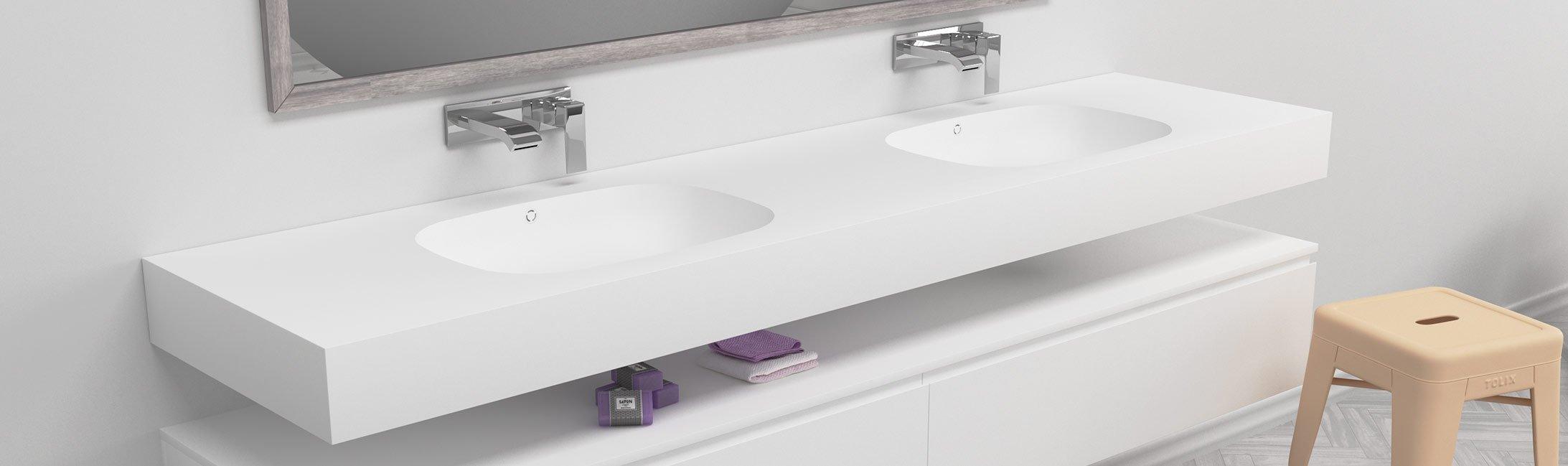 Corian Waschbecken dupont corian waschtische mit 2 waschbecken riluxa com