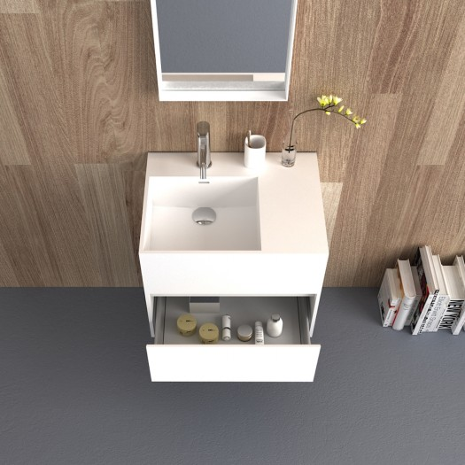 Meuble-vasque Acebo Plus en Solid Surface - 1 tiroir