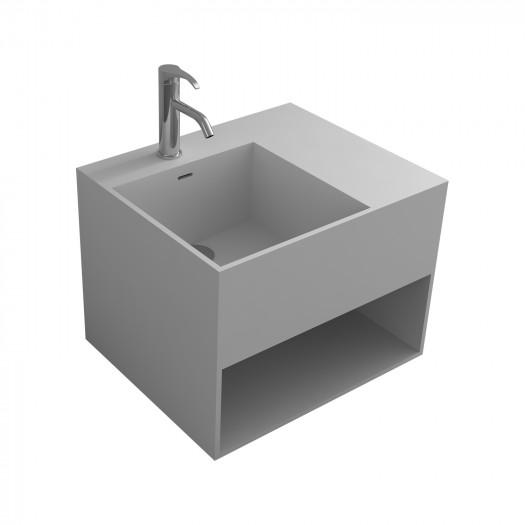 Meuble-vasque Acebo en Solid Surface - 1 alcove noire