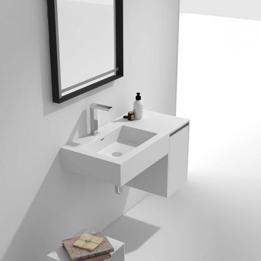 Meuble-vasque Alicia en Solid Surface - 1 porte à droite