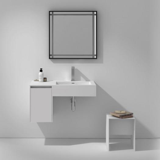 Meuble-vasque Alicia en Solid Surface - 1 porte à gauche