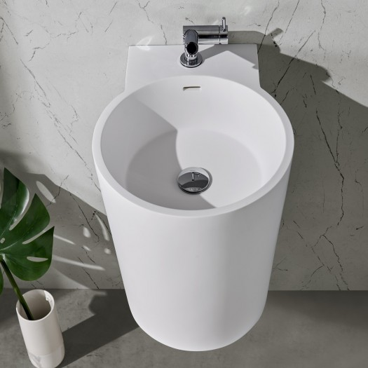 Lavabo mural Bloom en Solid Surface