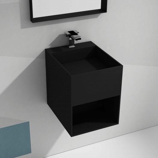 Lavabo à suspendre Brest Mini - Noir