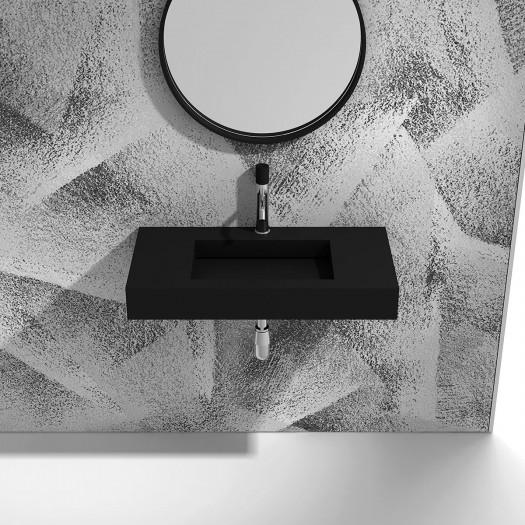Lavabo à suspendre Buenos Aires 90cm Black en Solid Surface