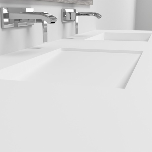 Plan Double Vasque en Corian® Canada