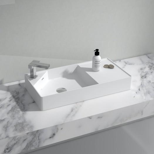 Lavabo à poser Centauro 80 en Solid Surface