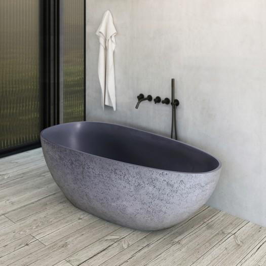 Baignoire Ilot Concrete en Solid Surface