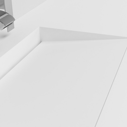 Plan Vasque en Corian® Tennessee
