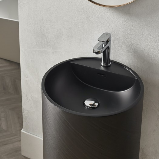 Lavabo colonne Dusk Black en Solid Surface