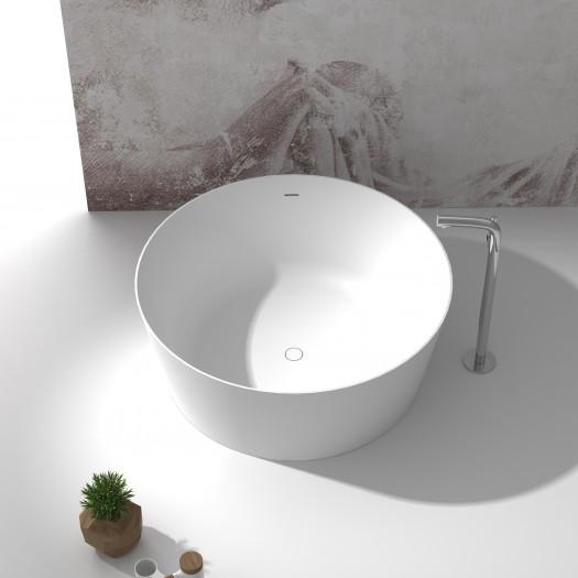 Baignoire Ilot Grenoble 140cm en Solid Surface