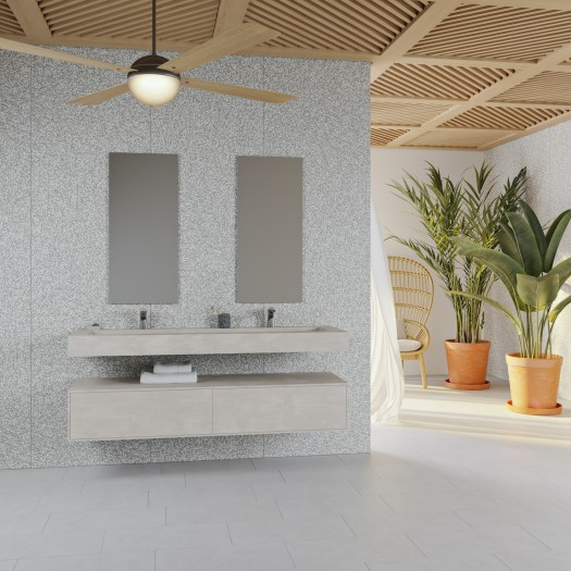 Vasque Indiana en Corian® Neutral Aggregate