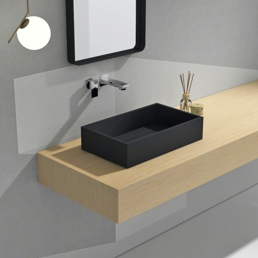 Lavabo Maltese Noir en Solid Surface
