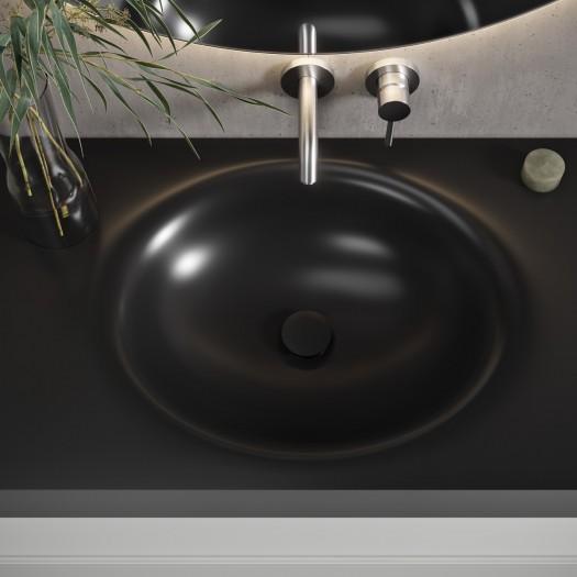 Vasque suspendue en Corian® Deep Nocturne Oval